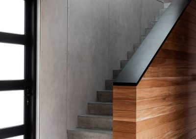 stair view with ceiling